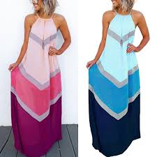 <b>Summer Dresses</b> Casual <b>Fashion</b> Elegant Dress <b>Women's</b> Halter ...