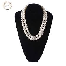 <b>JIOFREE Vintage</b> beads 8mm Imitate Shiny Pearl Necklace Fashion ...