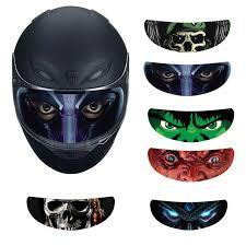 <b>Helmet Decoration Sticker Detachable</b> Motorcycle Racing Lens ...