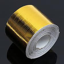 New <b>5cmx10m</b> Heat Cool <b>Reflective Tape</b> 500 Degree Gold Heat ...