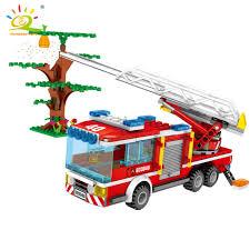 <b>491pcs Fire</b> Ladder Truck Model Building Blocks legoingly <b>City</b> ...