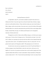 life of pi survival essay ritual and structure in life of pi