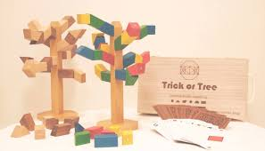 Trick or Tree : <b>Handmade</b> Magnetic <b>Wooden Blocks Toy</b> & Game