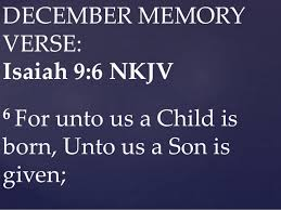 Resultado de imagen de bible verse about unto us a child is born