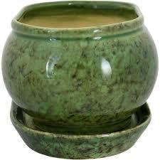 <b>Горшок</b> цветочный «Танго» зелёный 1.1 л 150 мм, <b>керамика, с</b> ...