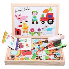 Diwenhouse Wooden Magnetic Jigsaw Puzzles Toy ... - Amazon.com