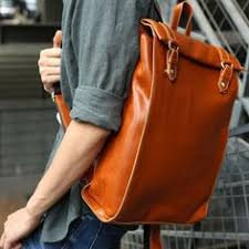 Simple leather Hipster backpack / Leather <b>bag</b>