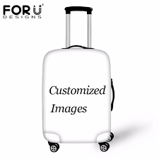 <b>FORUDESIGNS Customize Image</b> or Logo Luggage Protective ...