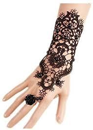 LEFINIS Bridal Black <b>Flower</b> Gothic Victorian <b>Lace</b> Vampire <b>Vintage</b>...