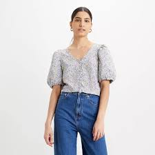 <b>Levi's Holly Blouse</b> Monrovia Floral Lavender Frost Women 22679 ...