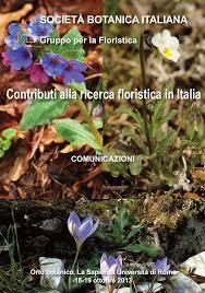 Contributi alla ricerca floristica in Italia (Comunicazioni Roma 18-19 ...