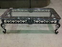 furniture black wrought iron table