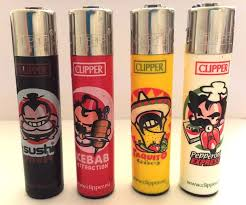 4 x GENUINE CLIPPER LIGHTERS FAST FOOD DESIGN - KEBAB ...