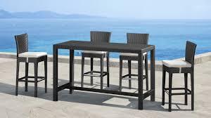 wicker bar height dining table: stylish bar height patio table  piece bar height patio table and chairs pub outdoor table and chairs outdoor wicker bar table and chairs patio remodel