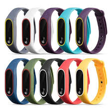 <b>Colorful Silicone Watch</b> Wrist <b>Strap</b> Bracelet For Double <b>Color</b> ...