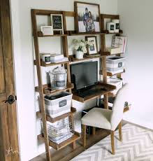 diy leaning wall ladder desk how to build your own leaning ladder desk out of all 1x boards easy tutorial by ana whitecom ana white build office