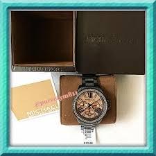 michael kors accessories authentic michael kors black crystal pave watch 2 authentic black crystal