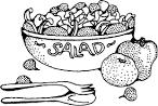 Фруктовый салат раскраска