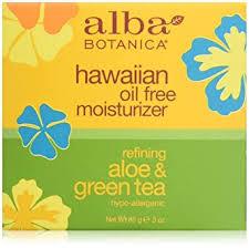 Alba Botanica <b>Hawaiian Oil</b>-<b>Free Moisturizer</b>, Aloe & Green Tea, 3 oz.