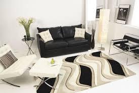 kas eternity 1071 waves rug black beige living room