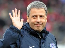 Lucien-Favre Berlin - Swiss coach Lucien Favre's position at Hertha Berlin remained uncertain Monday after attending crisis talks at the Bundesliga basement ... - Lucien-Favre