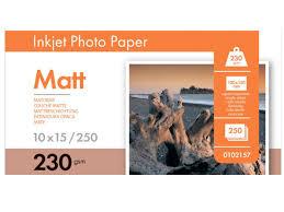 <b>Фотобумага A6</b> 230g <b>m2</b> матовая односторонняя 250 листов ...