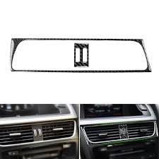 Real <b>Carbon Fiber Interior Middle</b> Console Air Vent Outlet Cover ...