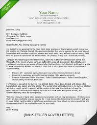 bank teller cover letter sample   resume geniusbank teller cover letter sample