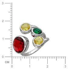Купить <b>Эстет Кольцо</b> безразмерное с сапфировыми стеклом из ...