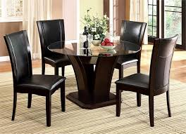 <b>Dining</b> Room Table Set Round Glass Kitchen Tables And Chairs ...