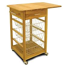 leaf kitchen cart: catskill drop leaf basket cart