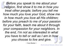 Cory Booker On Religion Quotes. QuotesGram via Relatably.com