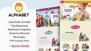 alphabet daycare school html themeforest website templates alphabet daycare school html5 themeforest website templates and themes