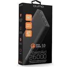 <b>Внешний аккумулятор Qumo</b> PowerAid QC 3.0 26000 мА-ч ...