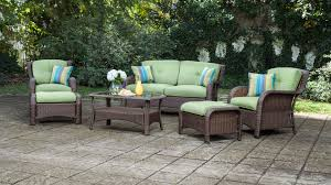 patio couch set sawyer  piece patio seating set cilantro green wicker