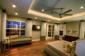 cortona master suite contemporary master bedroom idea in austin with gray walls and dark hardwood floors bedroom decor ceiling fan