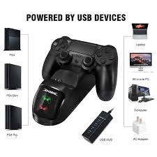 Fast <b>Gamepad Charging Dock</b> For PS4 Dual Controller Charger ...