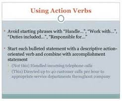 Action Resume Words  resume active verbs action words active       describing words