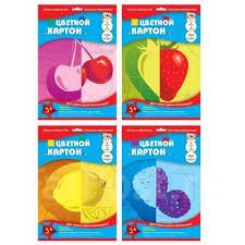 Цветной <b>картон</b> А4 7л. 7цв. мелован. двусторон., Лимон, <b>Апплика</b> ...