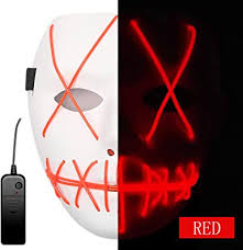 Ansee Scary Mask Halloween Cosplay Led Costume ... - Amazon.com