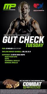mp workouts muscle pharm daily page  gutcheck tuesday