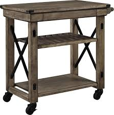 home furnishings wildwood rustic gray rolling kitchen