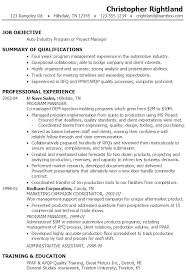 manager resume samples   program manager resume examples Annamua