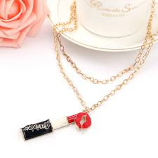 <b>Sweet Charming Lipstick</b> Mouth pendantl Necklaces Jewelry Long ...