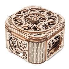 <b>2</b> Pieces/Set Vintage <b>Wooden Treasure Chest</b> Box Jewelry Storage ...