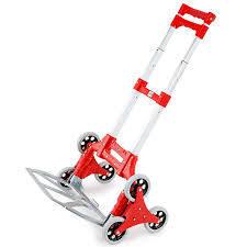 Baumr-AG <b>Stair</b> Climbing <b>Trolley</b> 6 Wheels Aluminium <b>Folding</b> Hand ...