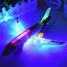 Light Universal Airbus A380 <b>Plane Model Flashing</b> Sound <b>Electric</b> ...