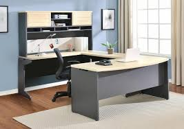 office desk black modern u shaped office desk black mixed varnished white amazoncom coaster shape home office
