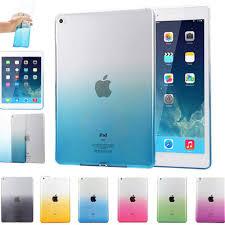 For <b>iPad</b> 9.7 2017 <b>Case Cover</b> Silicone Soft A1822 A1823 <b>Gradient</b> ...