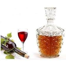 Online Shop <b>1PC Glass</b> Whiskey Liquor <b>Wine</b> Drinks Decanter ...